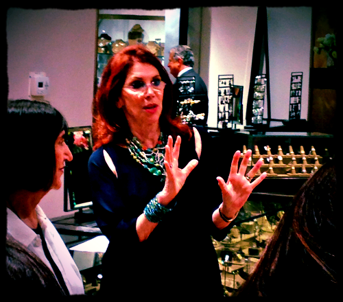 Janet Goldman of Fragments - that amazing bracelet gave emphasis to every word!