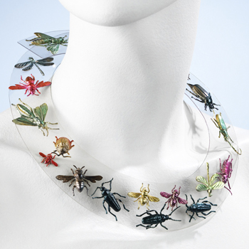 "The famous Schiaparelli ""bug"" necklace, 1938."