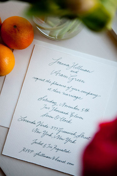 Joanna Hillman Wedding Invitation