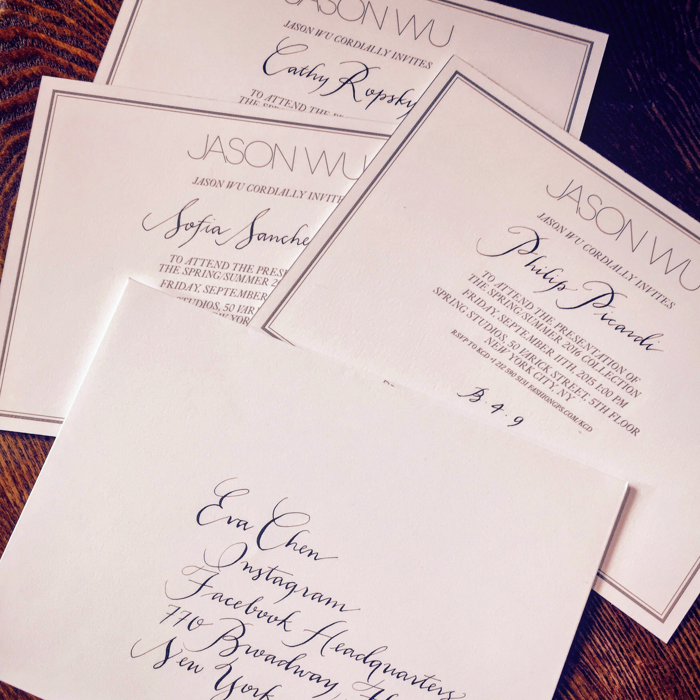 Jason Wu Invitations