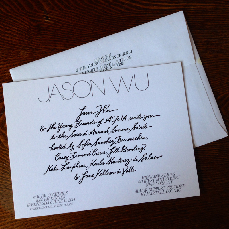 Jason Wu for ACRIA Invite