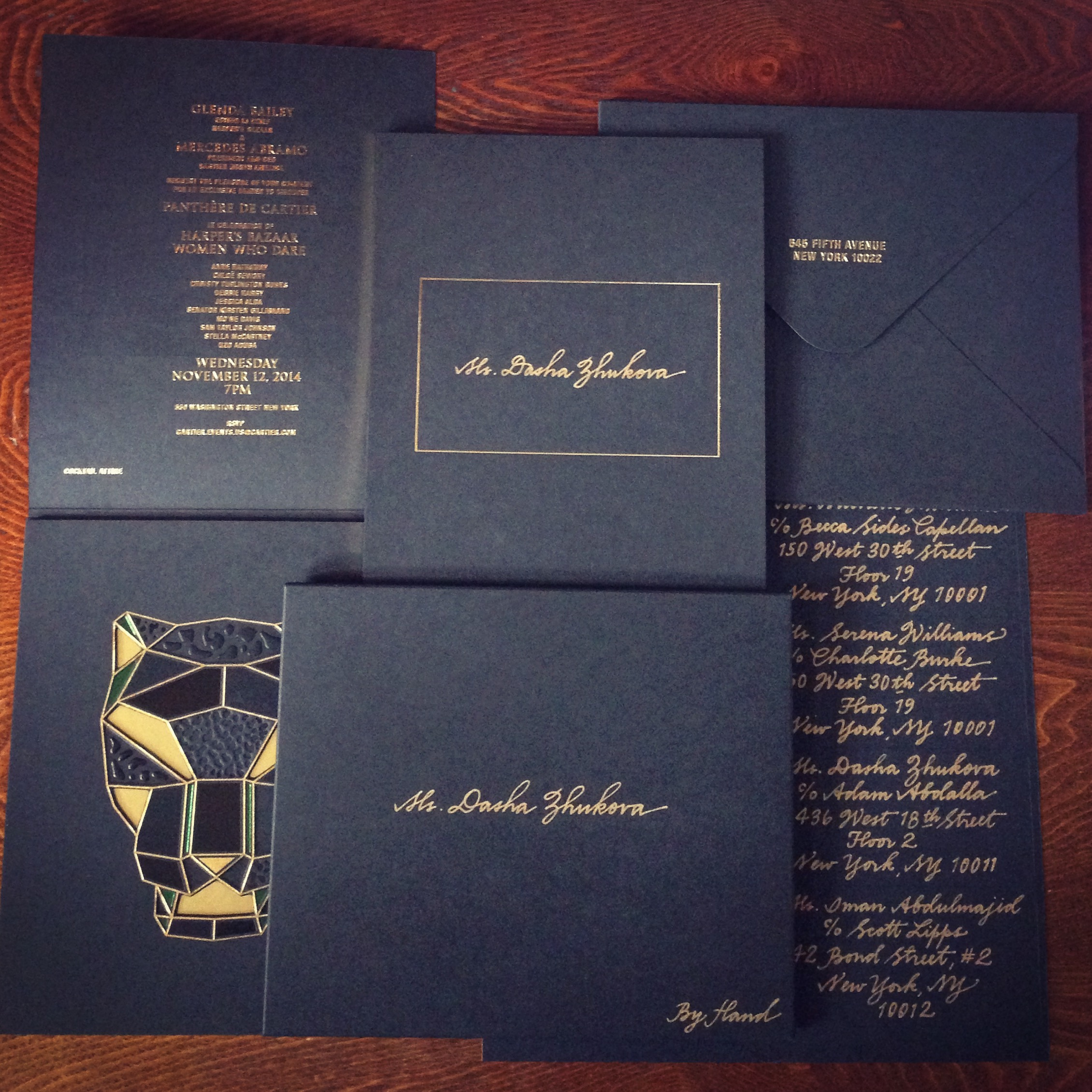 Cartier Panthere Invitation