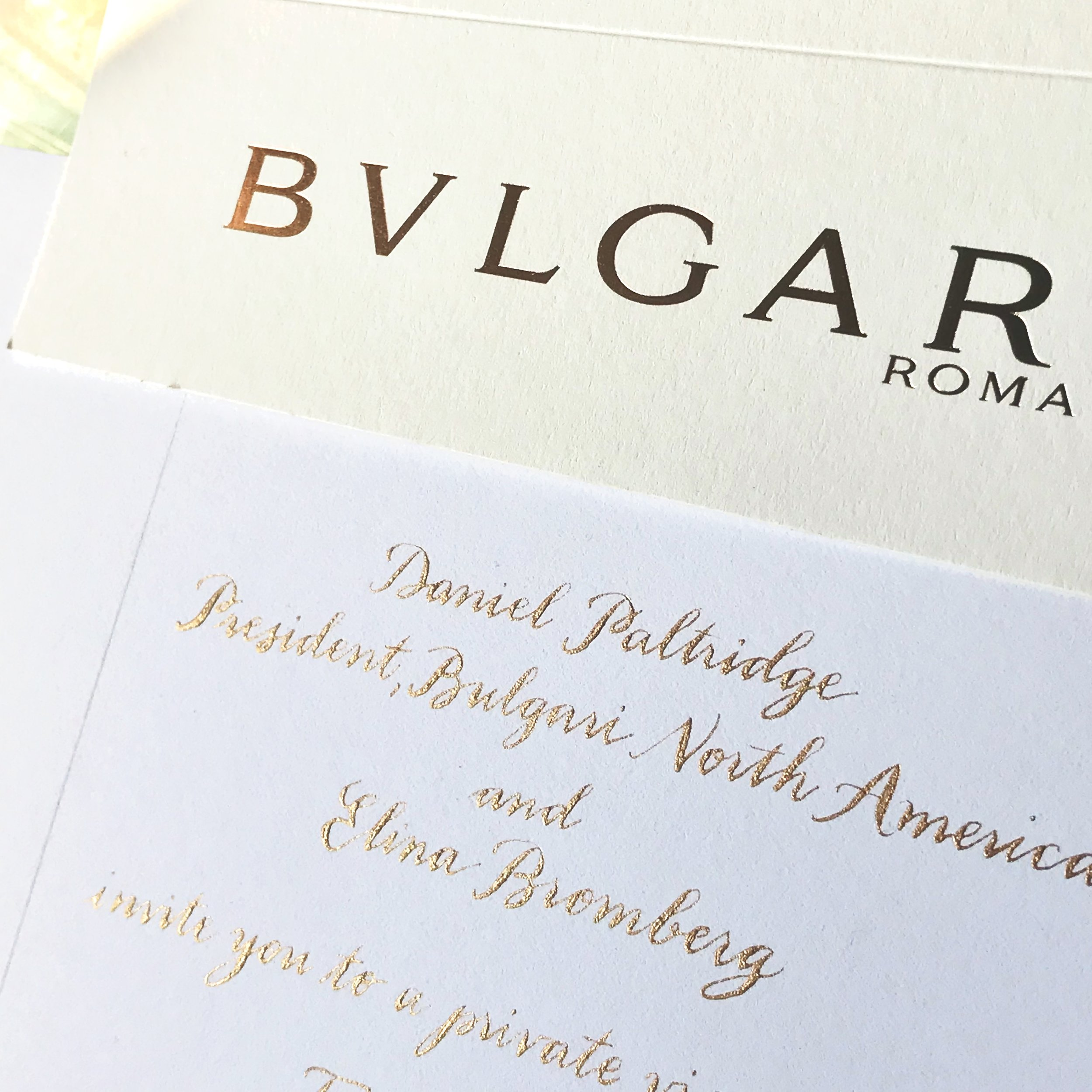 Bulgari Invitation