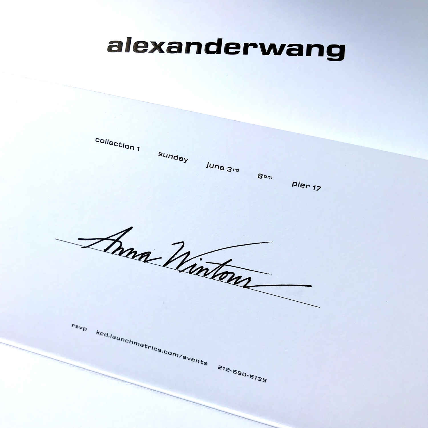 Alexander Wang Invitation