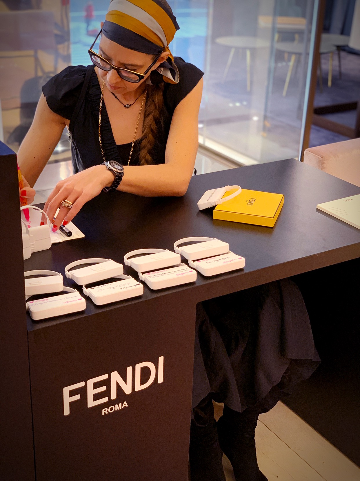 Fendi Micro Baguette Activation - On-Site Calligraphy, Fendi Madison Ave.