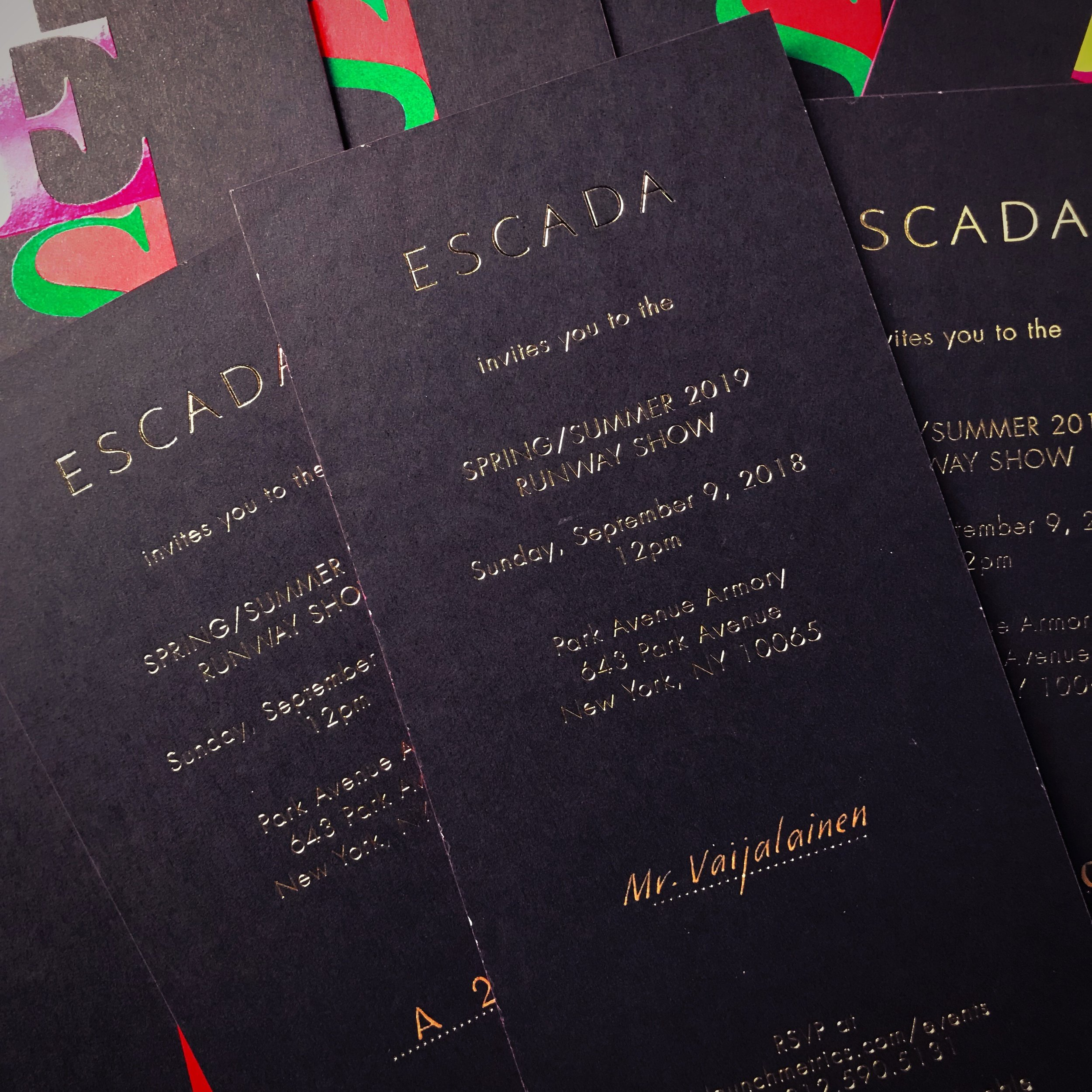 Escada SS19 Invitations
