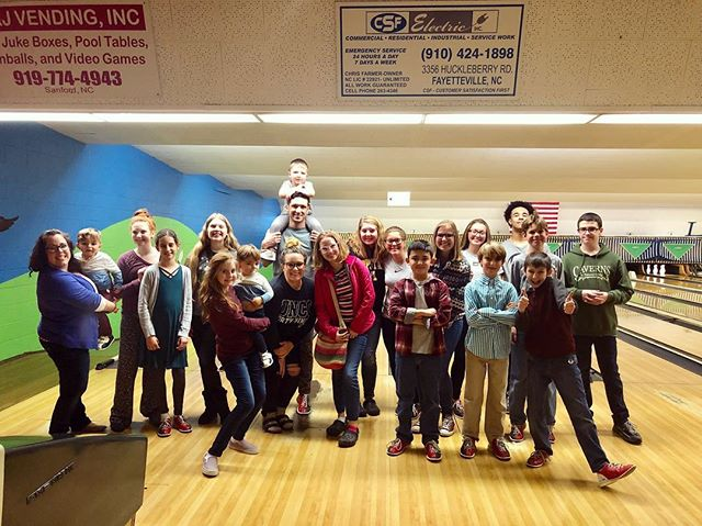 Bowling with some of our favorite people this evening!