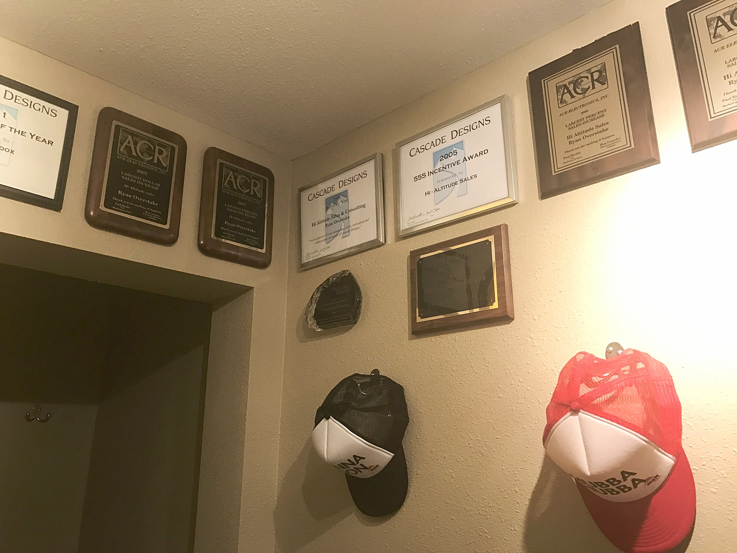 "The Hi Altitude ""Wall of Fame"" in our bathroom!"