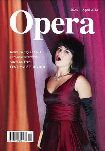 Opera Magazine cover of Corinne Winters, April 2013