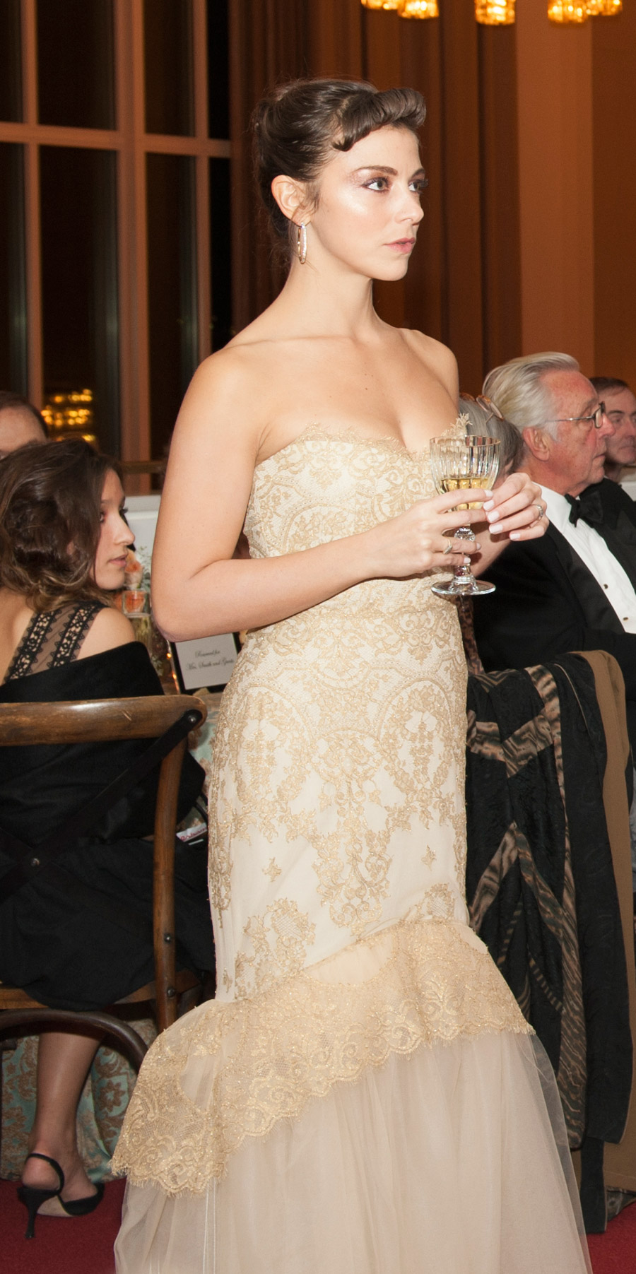In   Marchesa Notte   for the opening night of La bohème at Washington National Opera at the Kennedy Center in Washington, D.C.