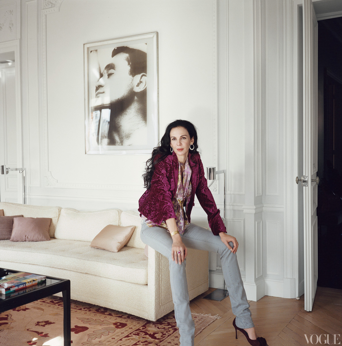 Designer L'wren Scott in her Paris apartment….RIP…..