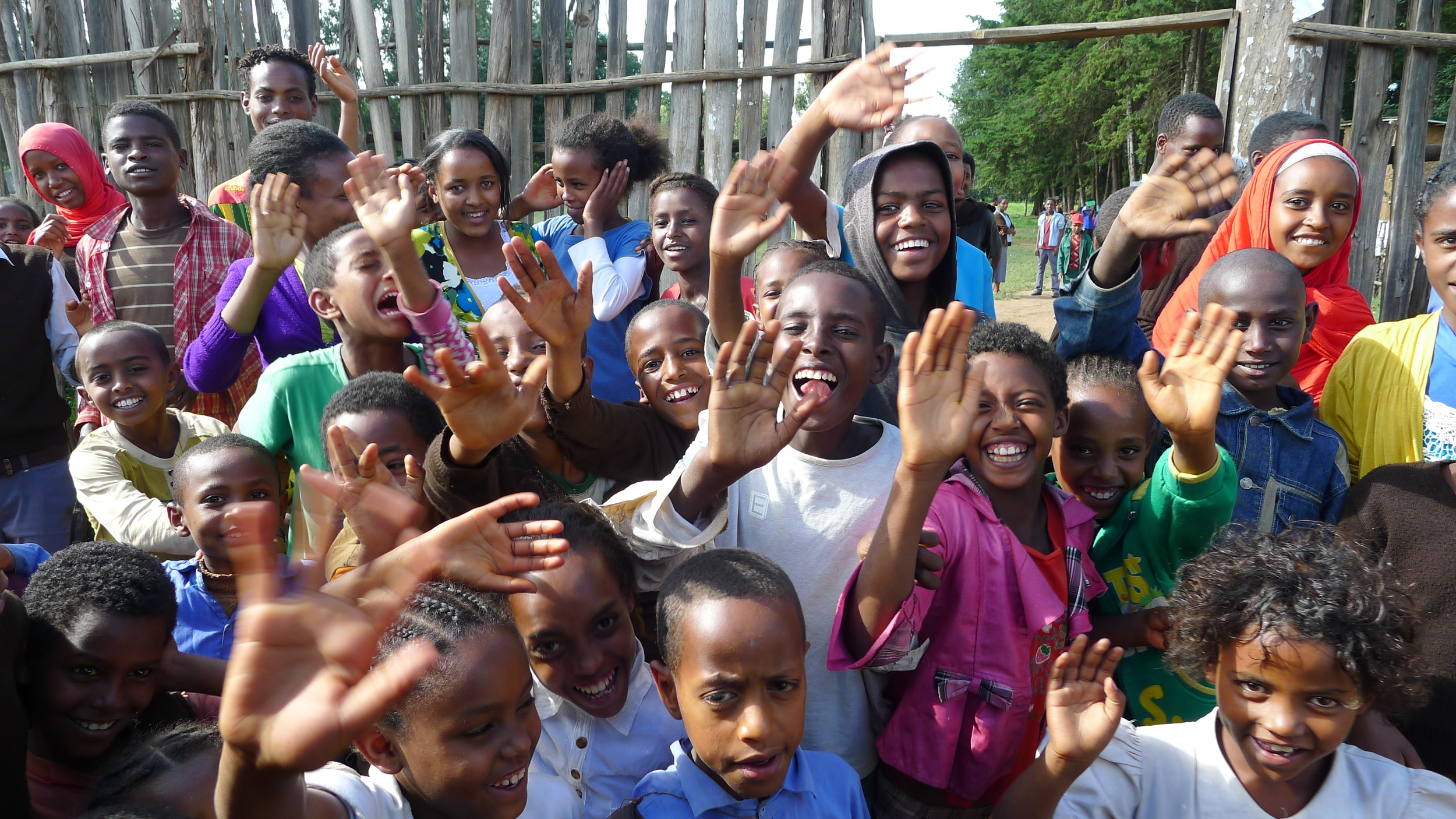 Students from the Alemu Woldehanna School, Hosanna, Ethiopia.