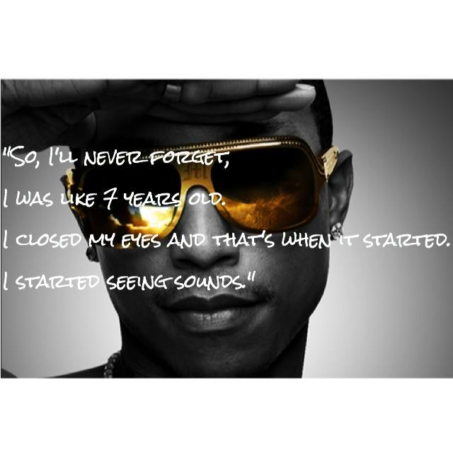 "These lyrics of Pharrell, from ""Time for Some Action"" on the N.E.R.D. album ""Seeing Sounds,"" always resonated with me. For some our most precious talents & interests are formed at a very early age. Obviously this hit-maker followed his visions. What was it for you? Photo: Pharrell wears Monclear Lunettes via eurweb.com."
