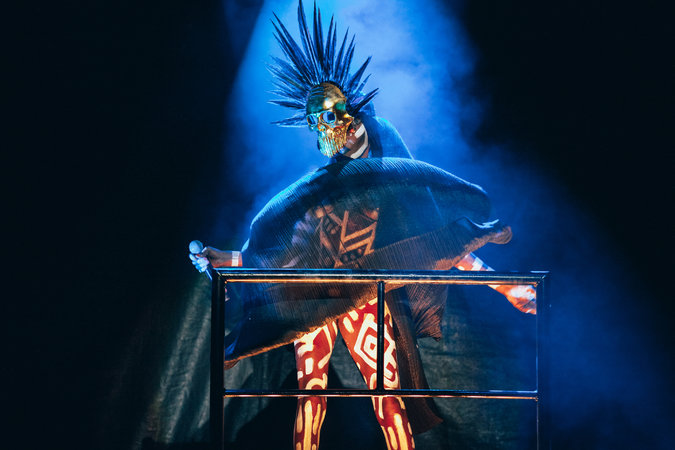 Grace Jones performs at the Afro Punk Festival 2015. Photo credit: Nicole Fara Silver for The New York Times.