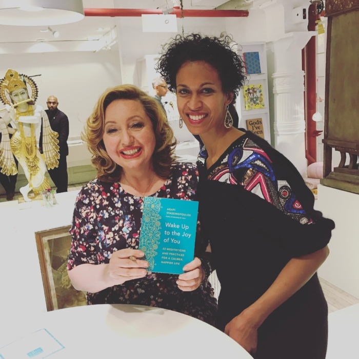 With Agapi and her book signing for Wake Up to the Joy of You.