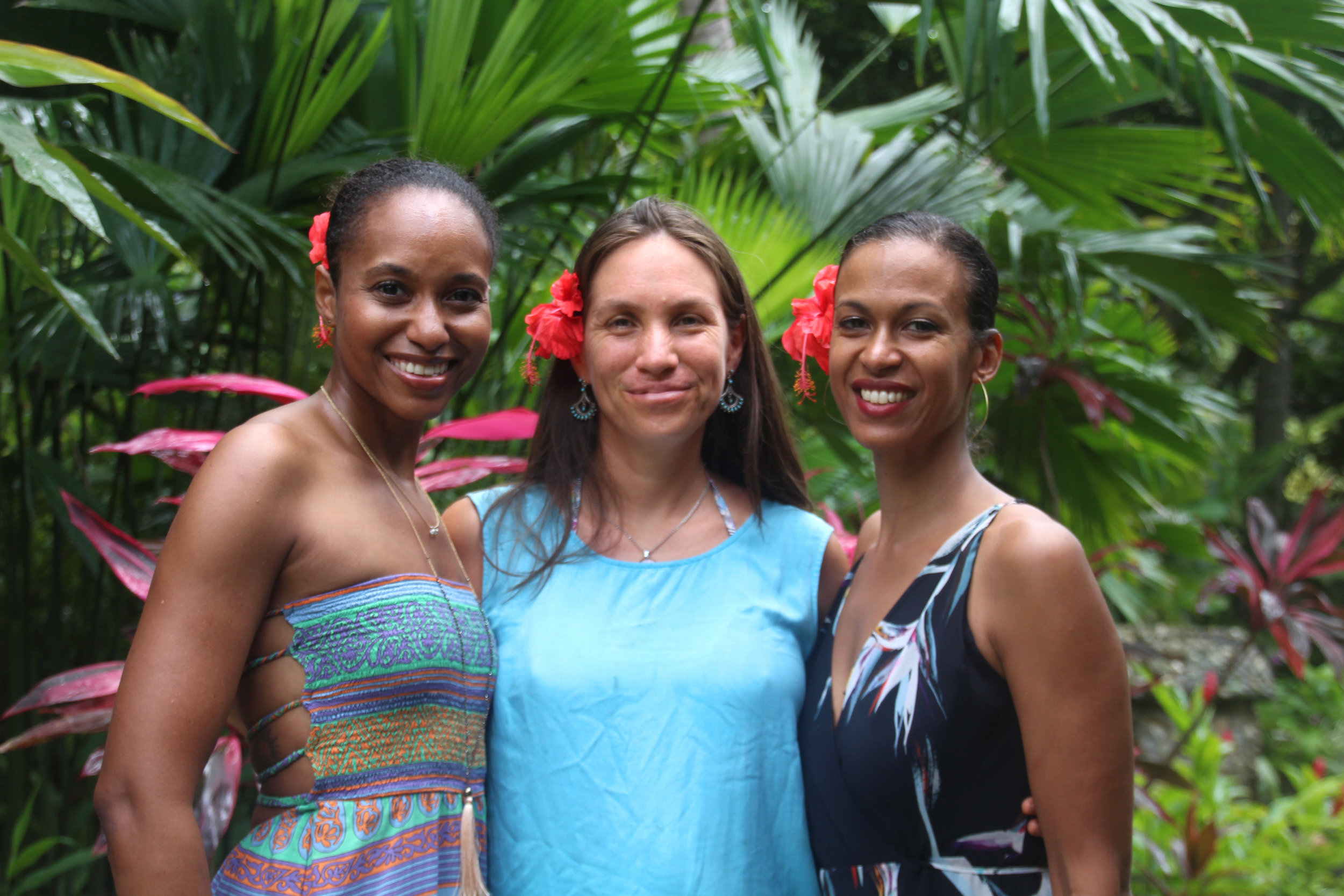 Rashia, Serena and Hope @ The Tropical Transformation Wellness Retreat in Colombia. Photo Credit: Amelie Pichard  @iconink.design