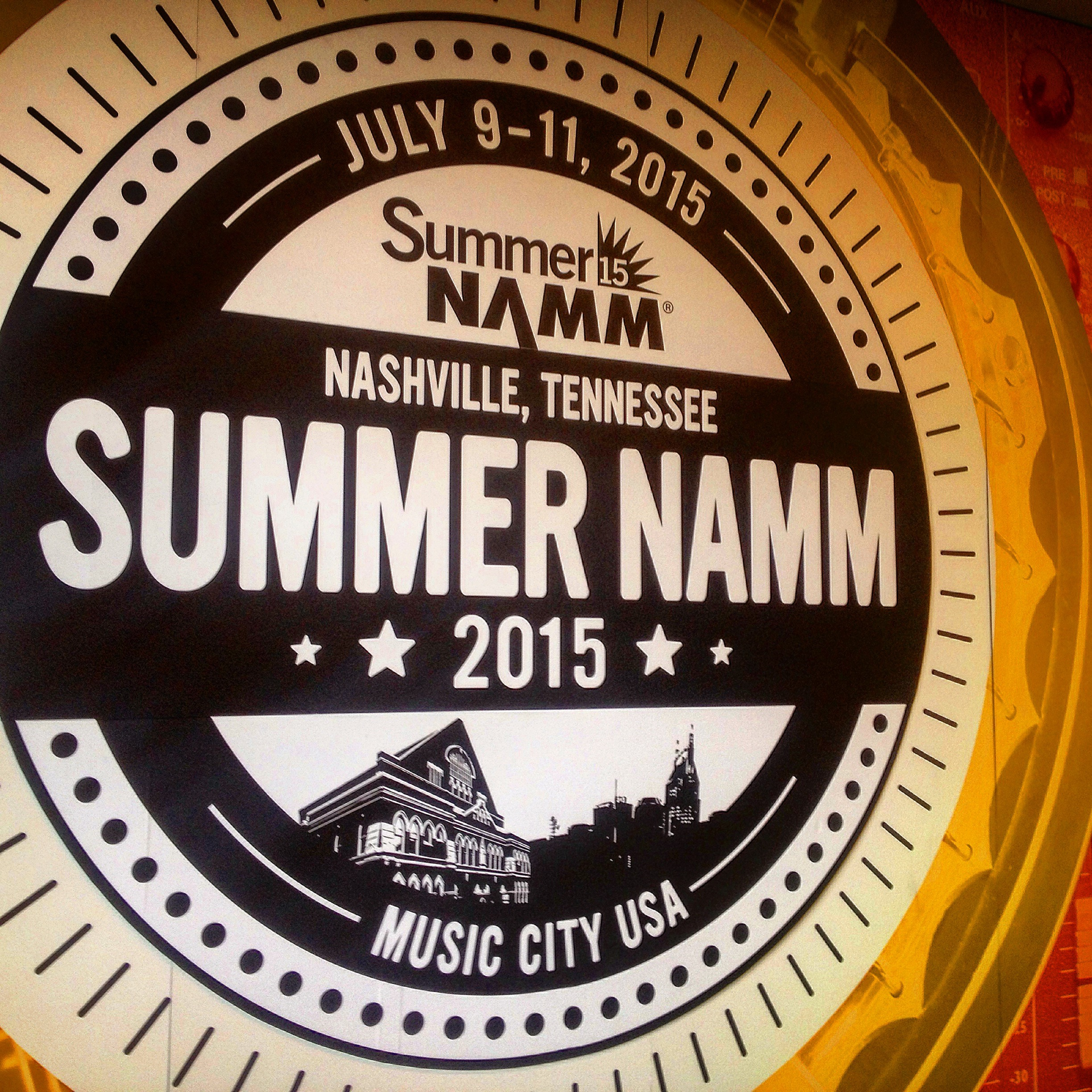 The NAMM Show is a music industry event I attend every year. This is my first SUMMER NAMM in Nashville. I got to hang out with my friends from Ultimate Ears (UE) in-ear monitors, with my buddy Norm Stockton and Mike Sessler, who recently moved to Nashville.