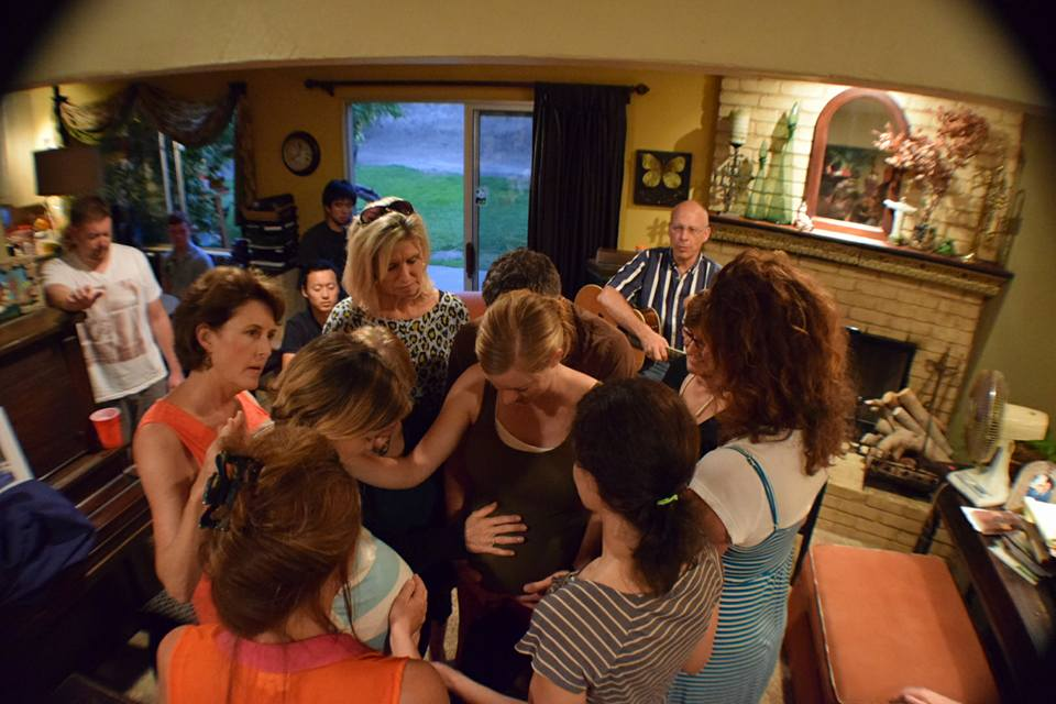 This is what LOVE looked like that night . . . praying for new moms.