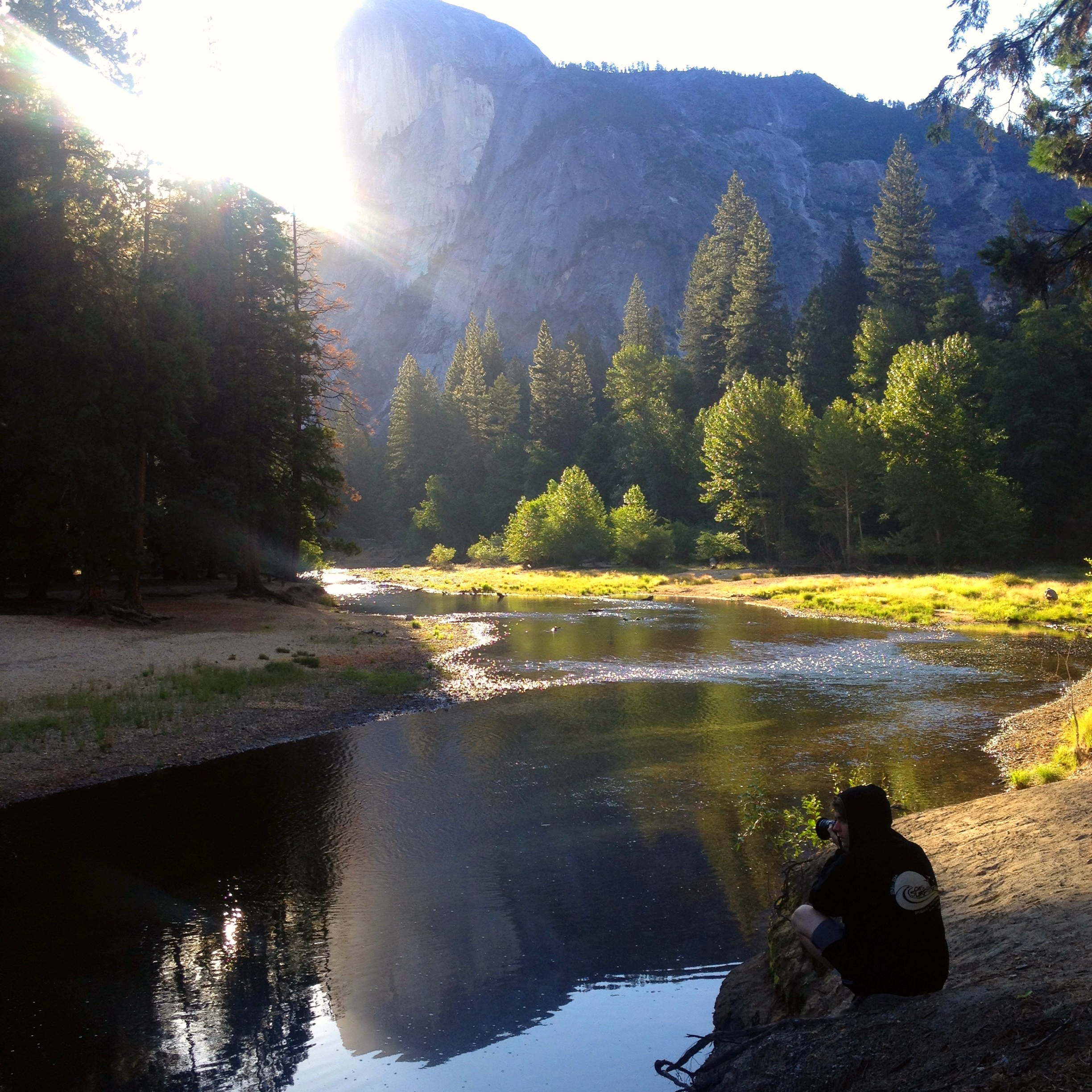 Yosemite in the morning with your sons doing what makes them feel alive. So good!