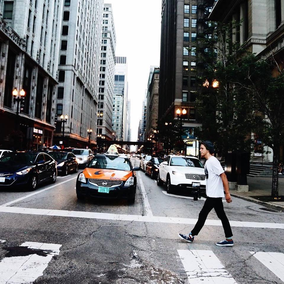Trevor walking the streets of San Francisco