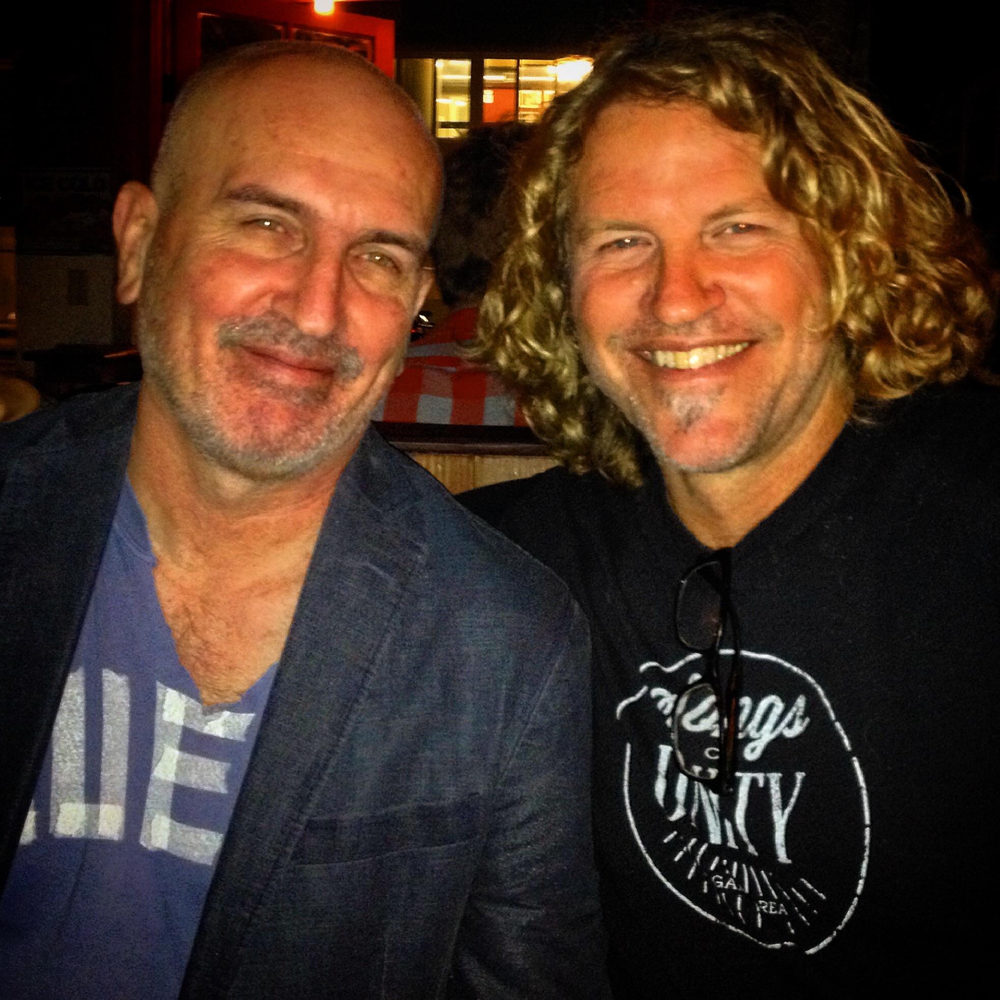 Singer/Songwriter/Producer Chris Falson & Performance Artist Tom Clark & I hanging in LA.