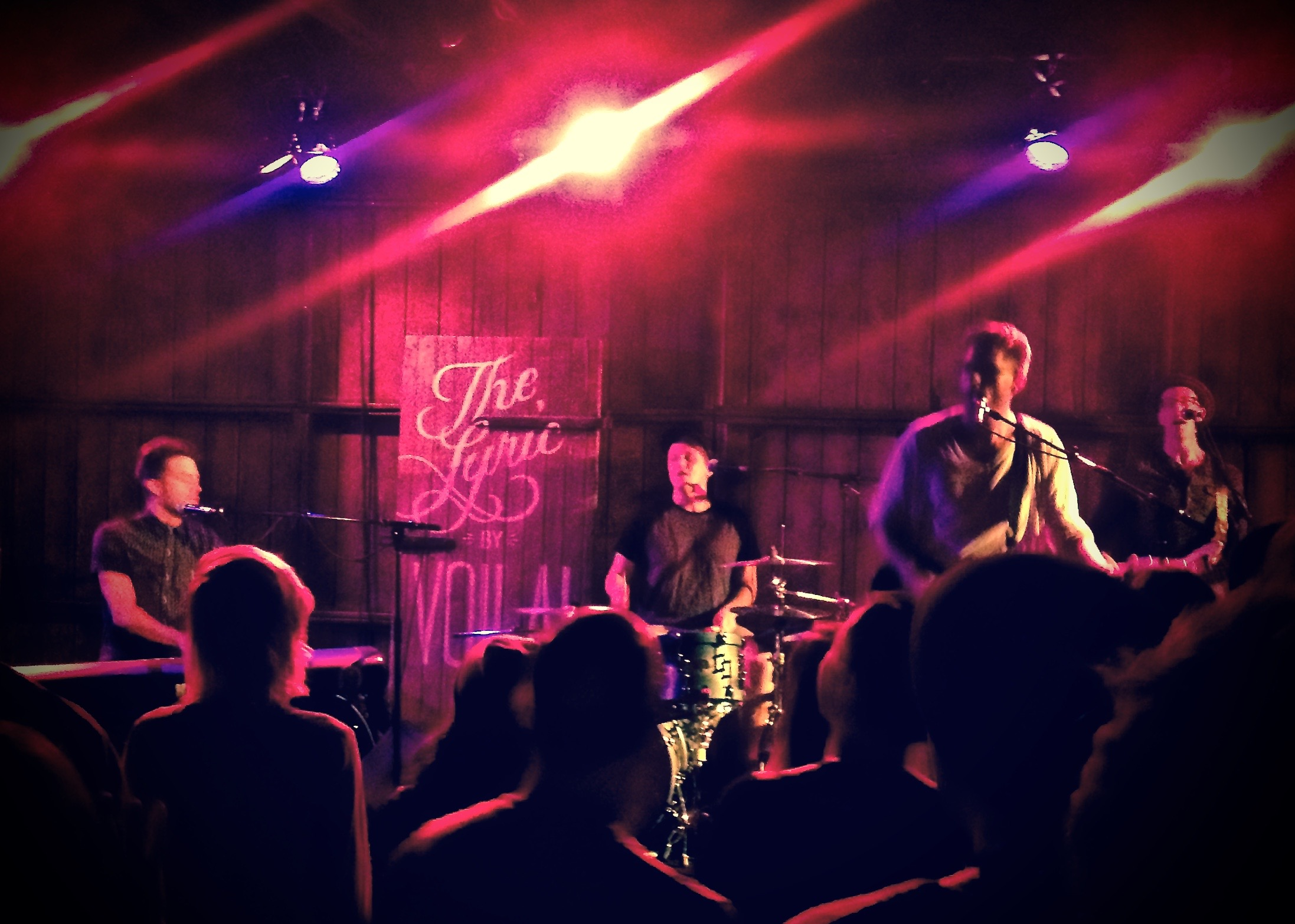Joe Urquhart holding down the rhythm section on tour with Recording Artist Brendan James.