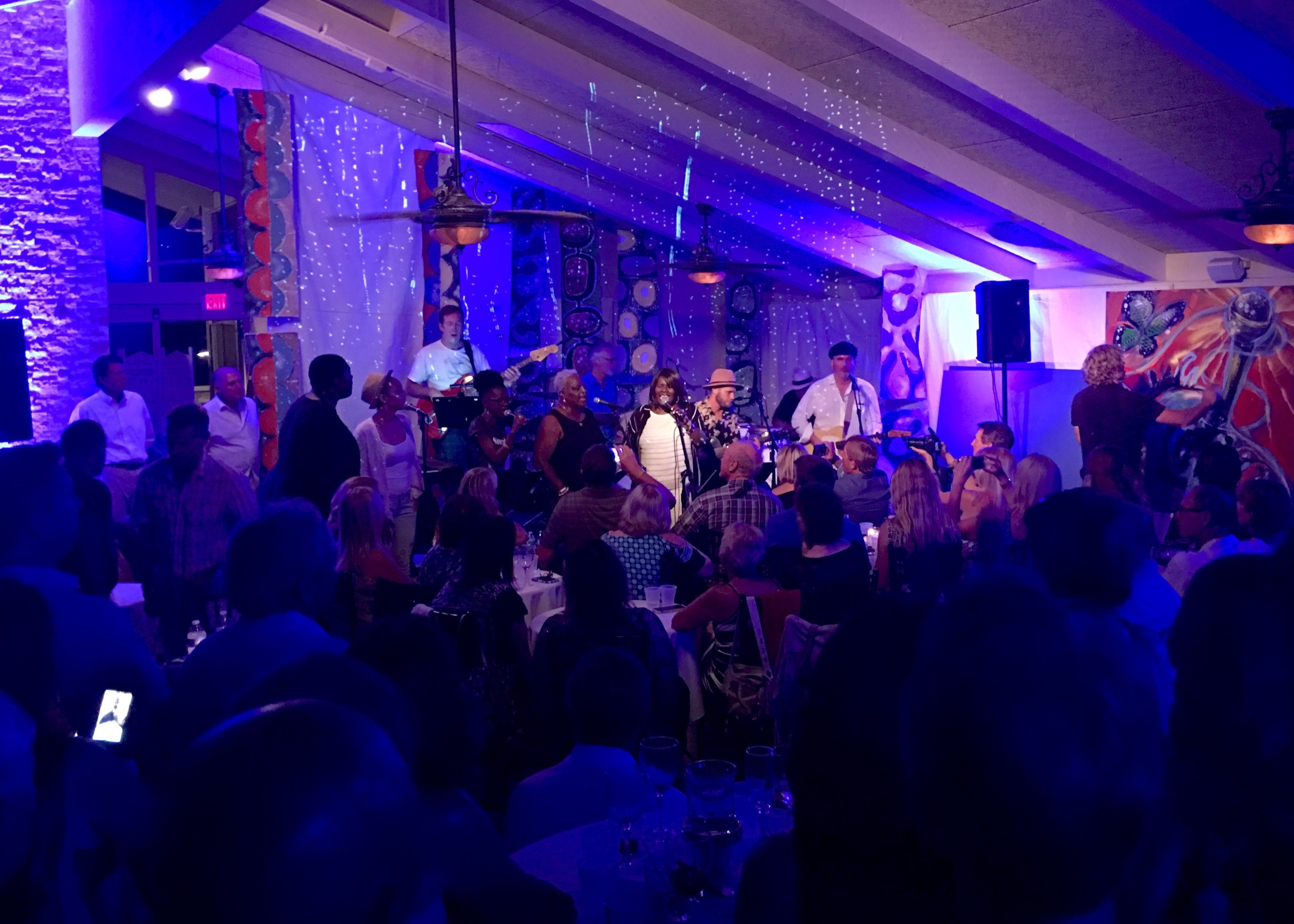 Party for the soul - Chris falson with an all star Gospel R&B Band, Thomas Clark performance live art, great food & drink, inspiring ocean views and a great crowd of 200 people desiring a night of good news.