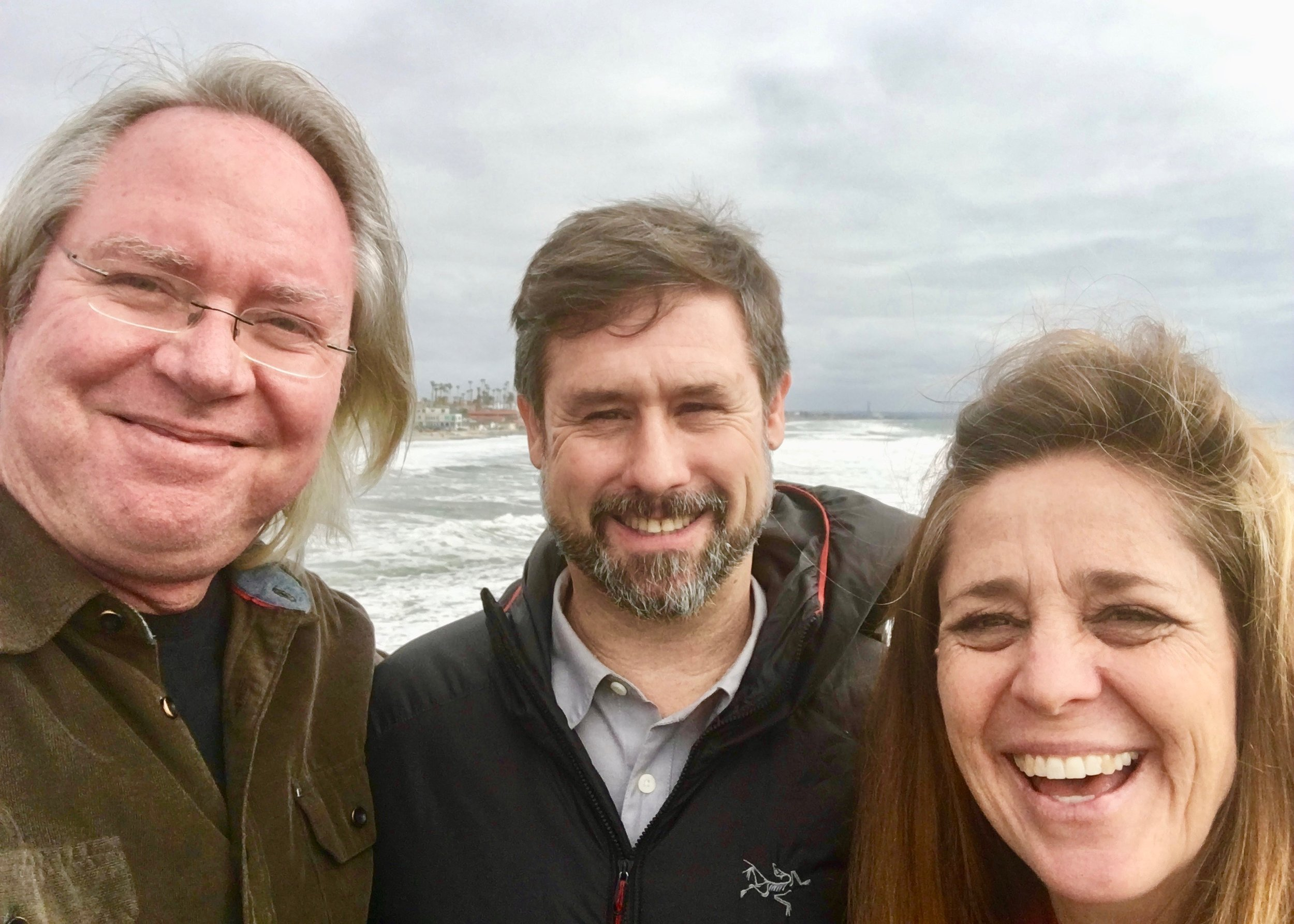 Christine & I here with  Leonard Hays . Leonard and I are curating a fresh Gathering for Artists this year called   Artists Living Loved.