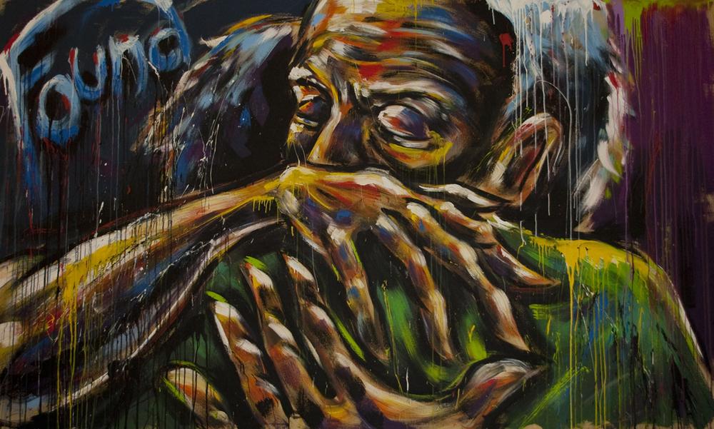 """""""Found"""" live art by Tom Clark"""