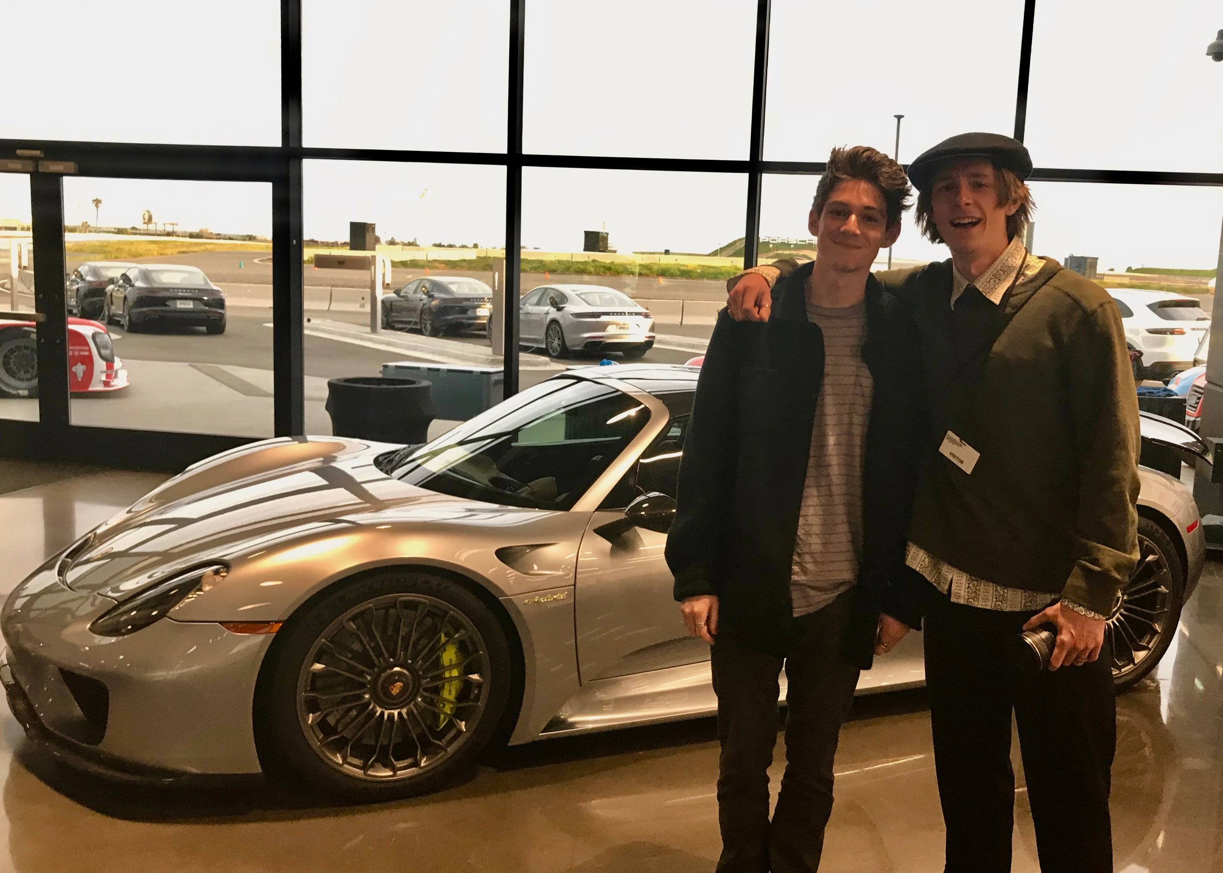 Connor & Trevor celebrating Connor's 21st Birthday at the Porsche Experience Track.