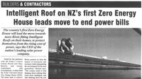 Builders & Contractors Mag July 23, 2012         Article detailing solar's role in the house, and including comments from Labour Party leader David Shearer.  Click here to read.