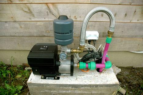 Grundfos CME booster pump.