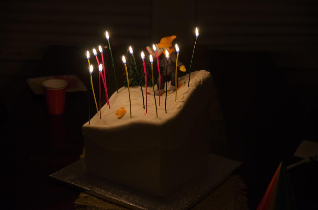 The lit cake