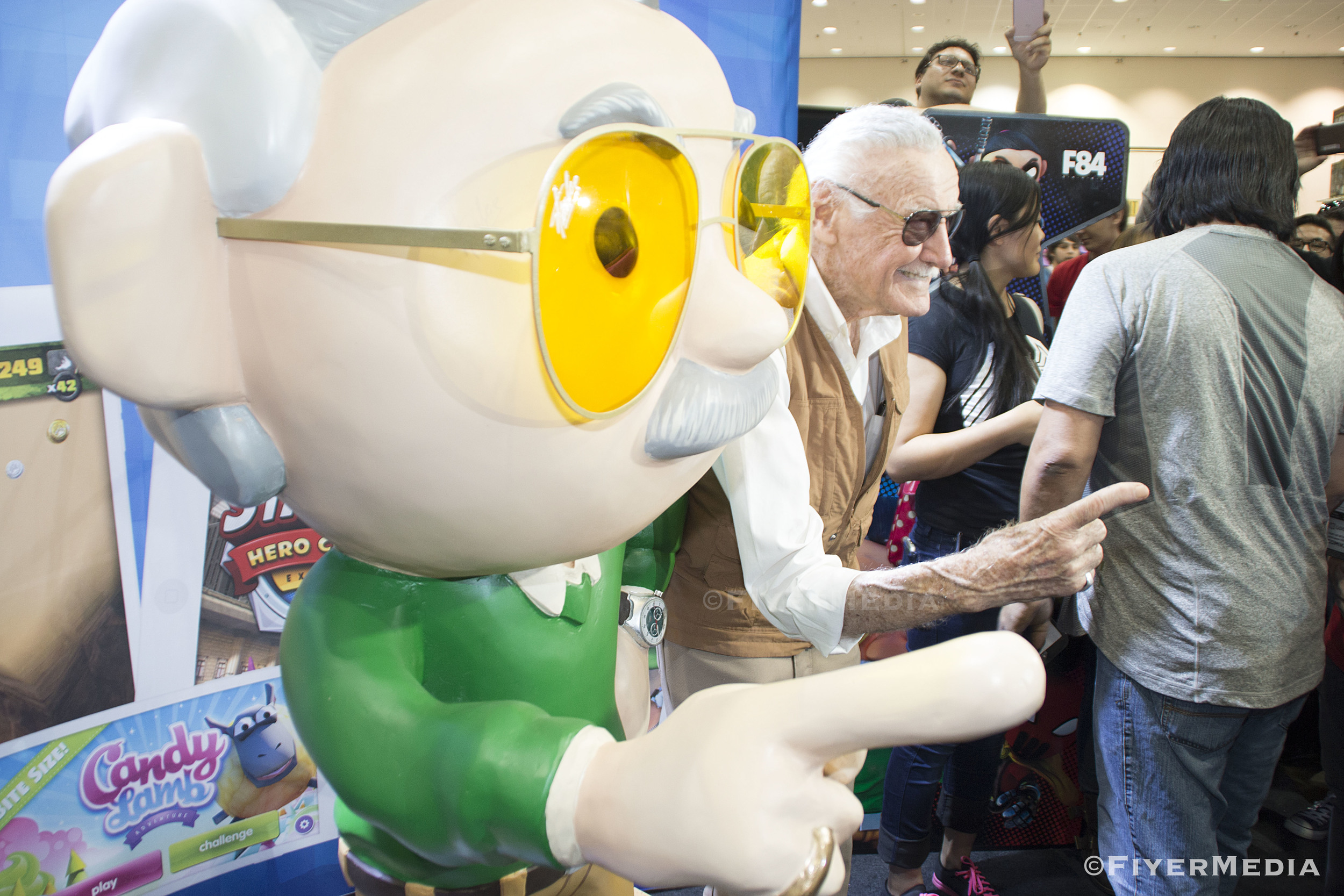 Stan Lee at the F84 Games Booth