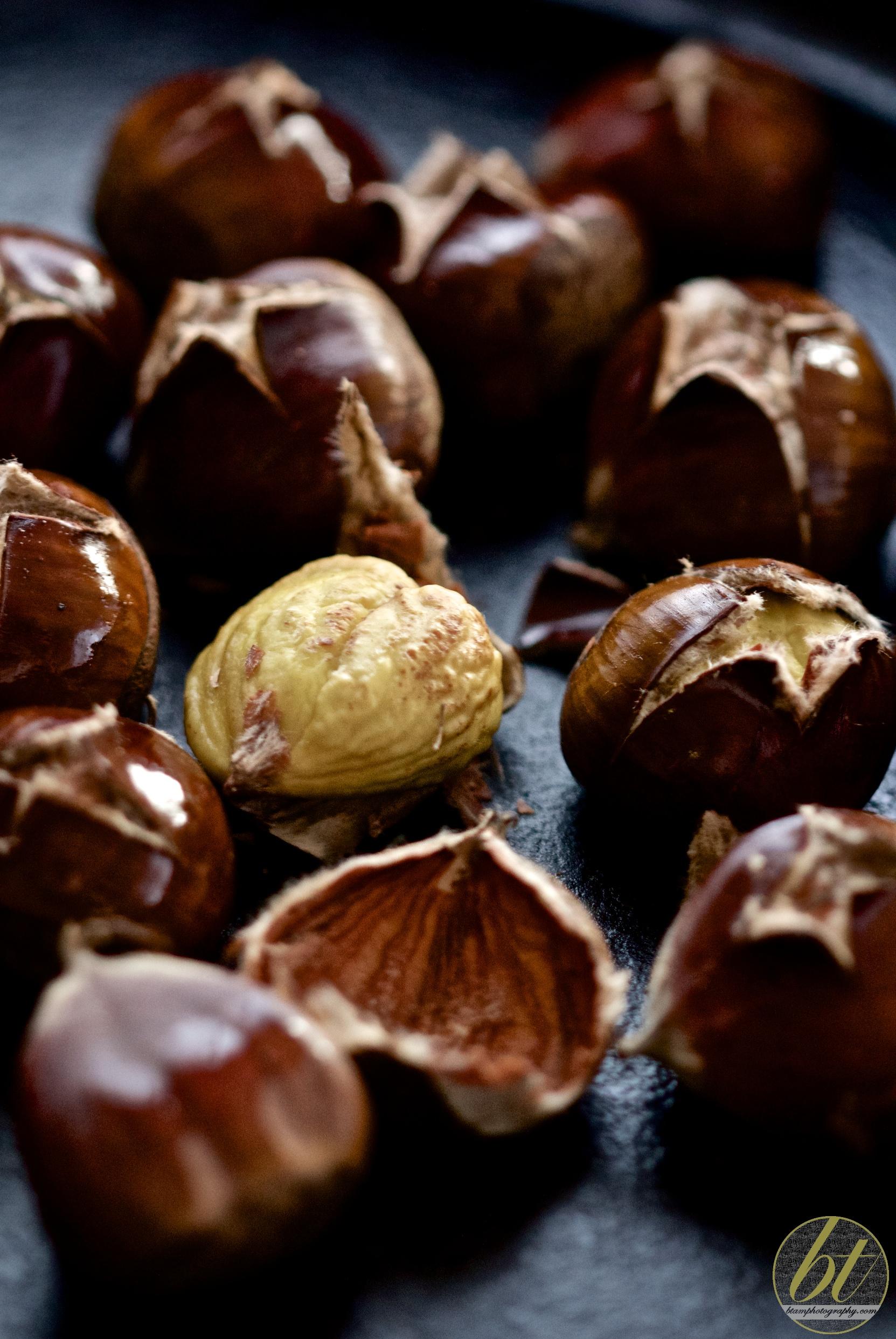 Roasted autumn chestnuts