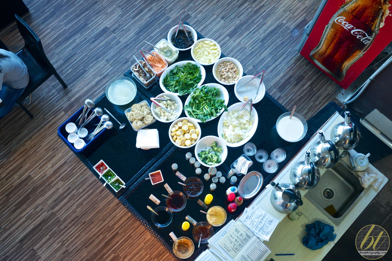 Communal vegetables table