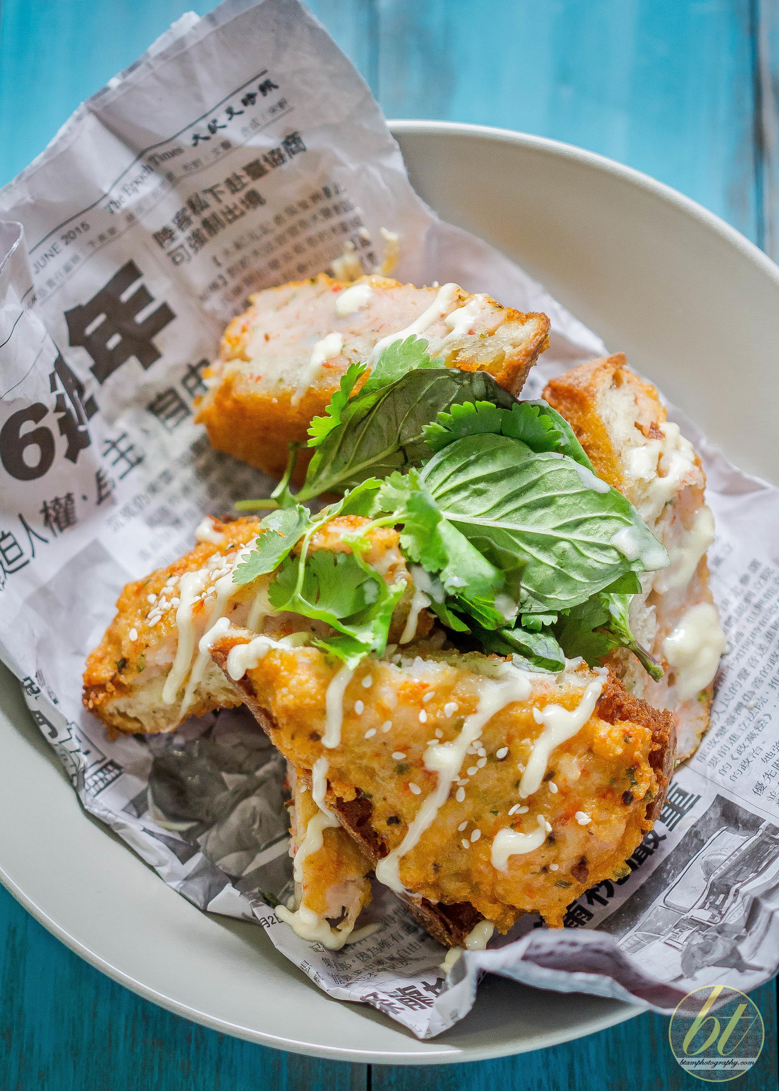Prawn Toast with Yuzu Mayonnaise (a Dan Hong recipe)