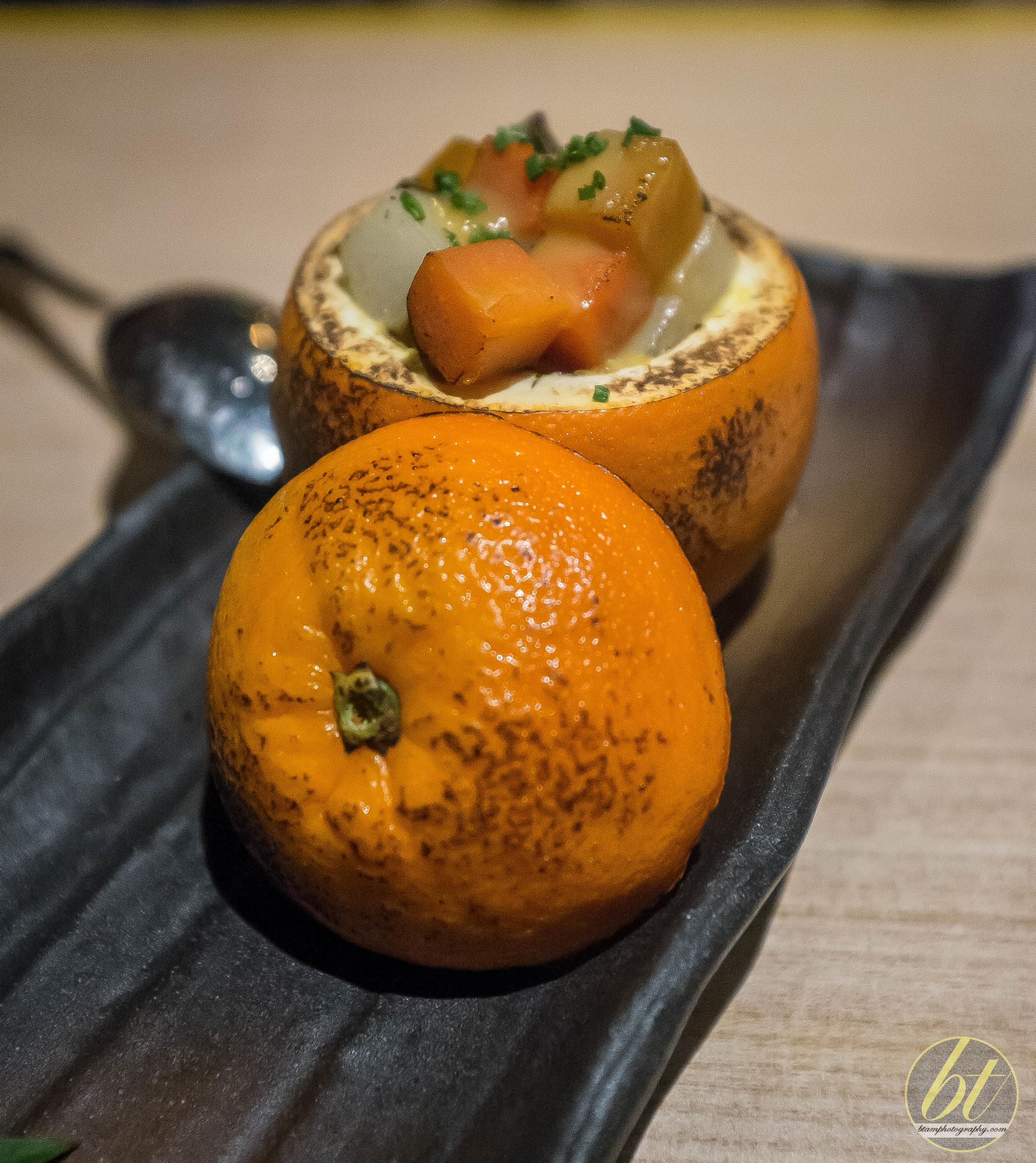 Roast Umami Vegetables with Orange Miso and Orange Pot