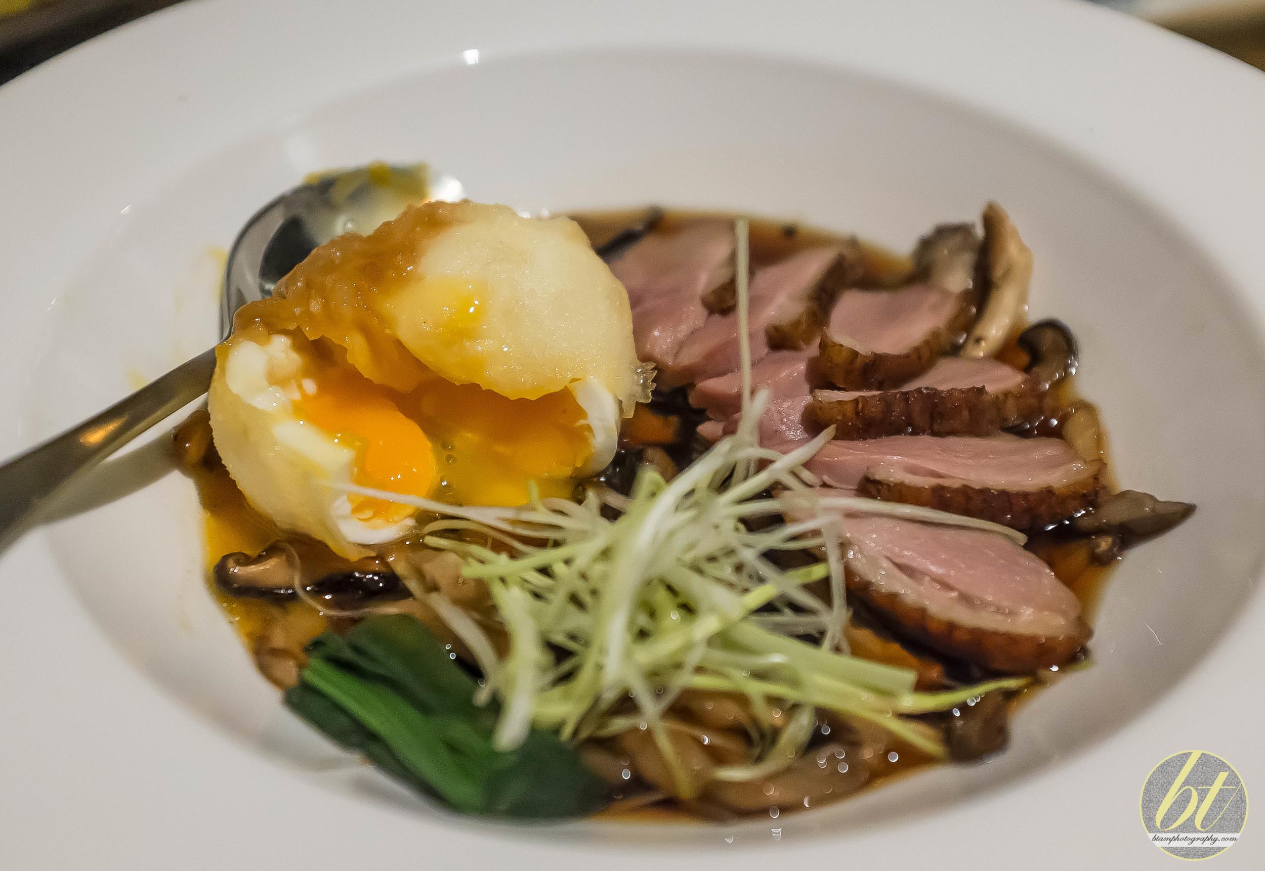 Duck Breast Sukiyaki with Tempura Egg