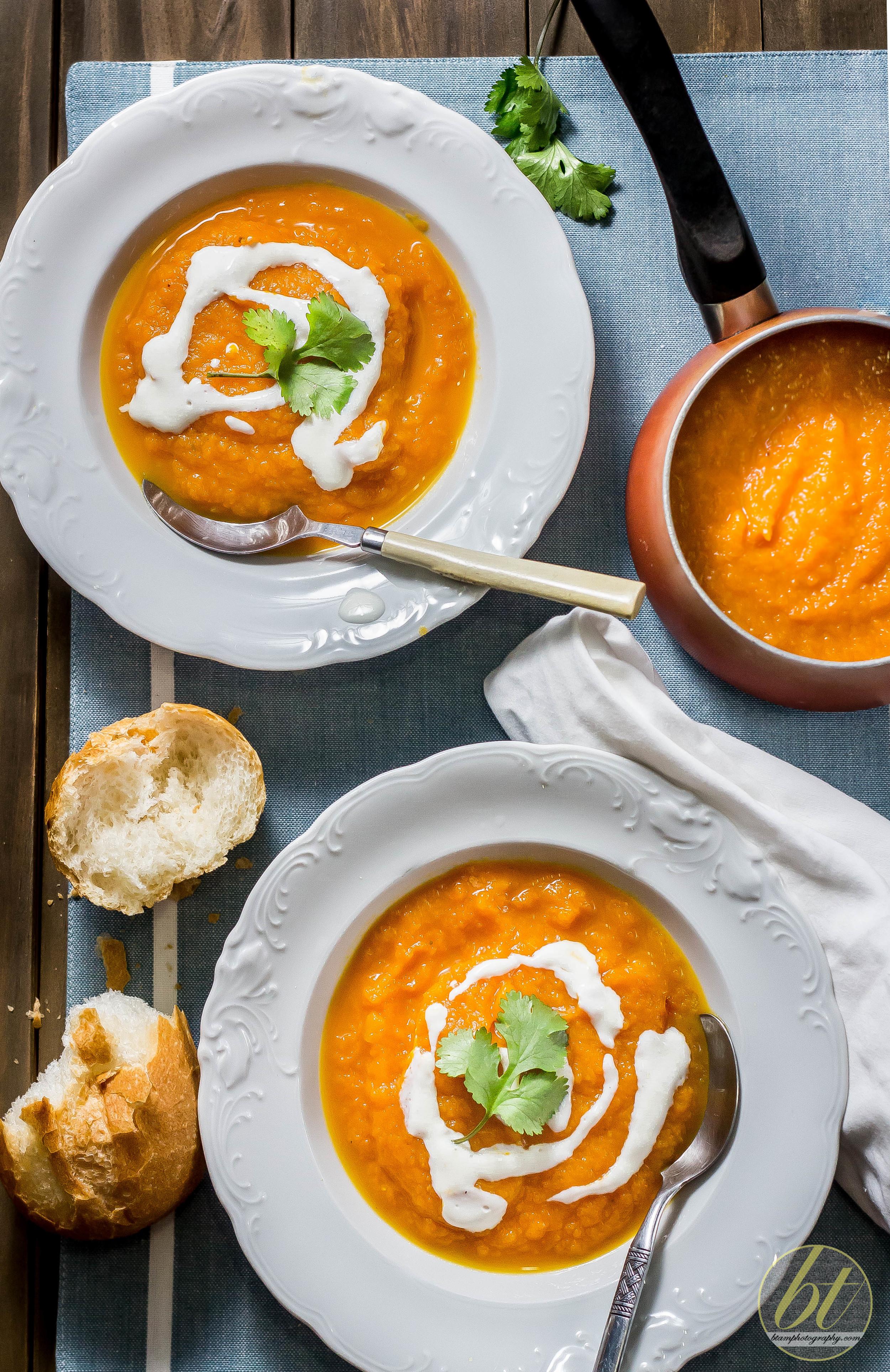 Roast Carrot, Pumpkin & Ginger Soup