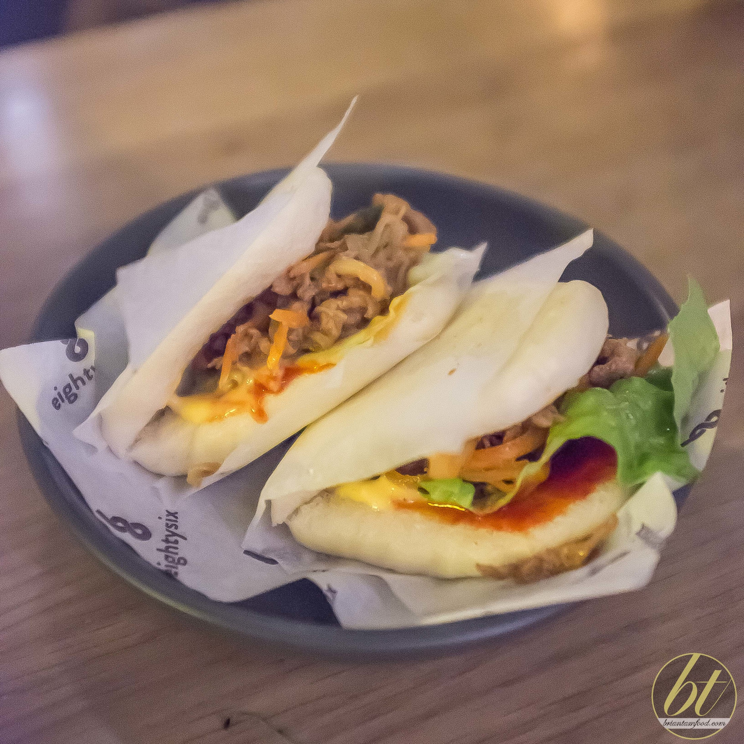bulgogi beef steamed bun with kimchi pickle