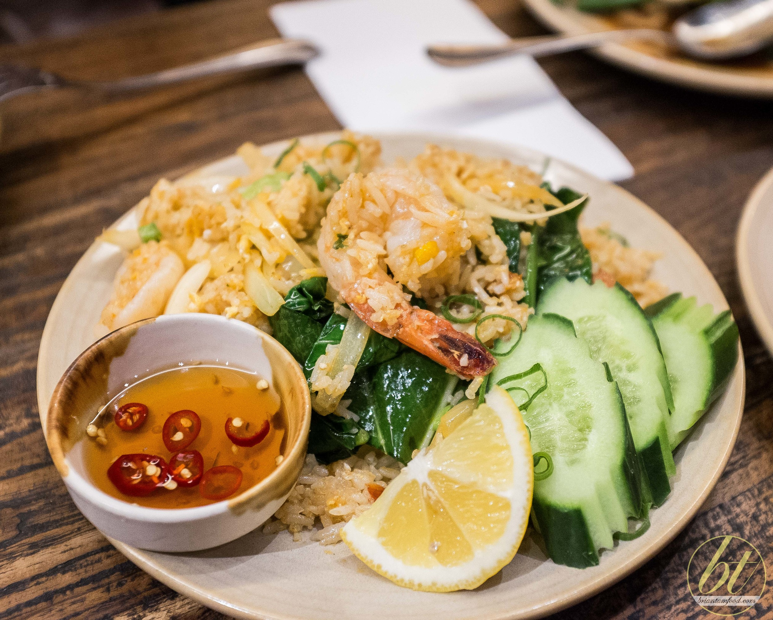 Prawn fried rice ($19)