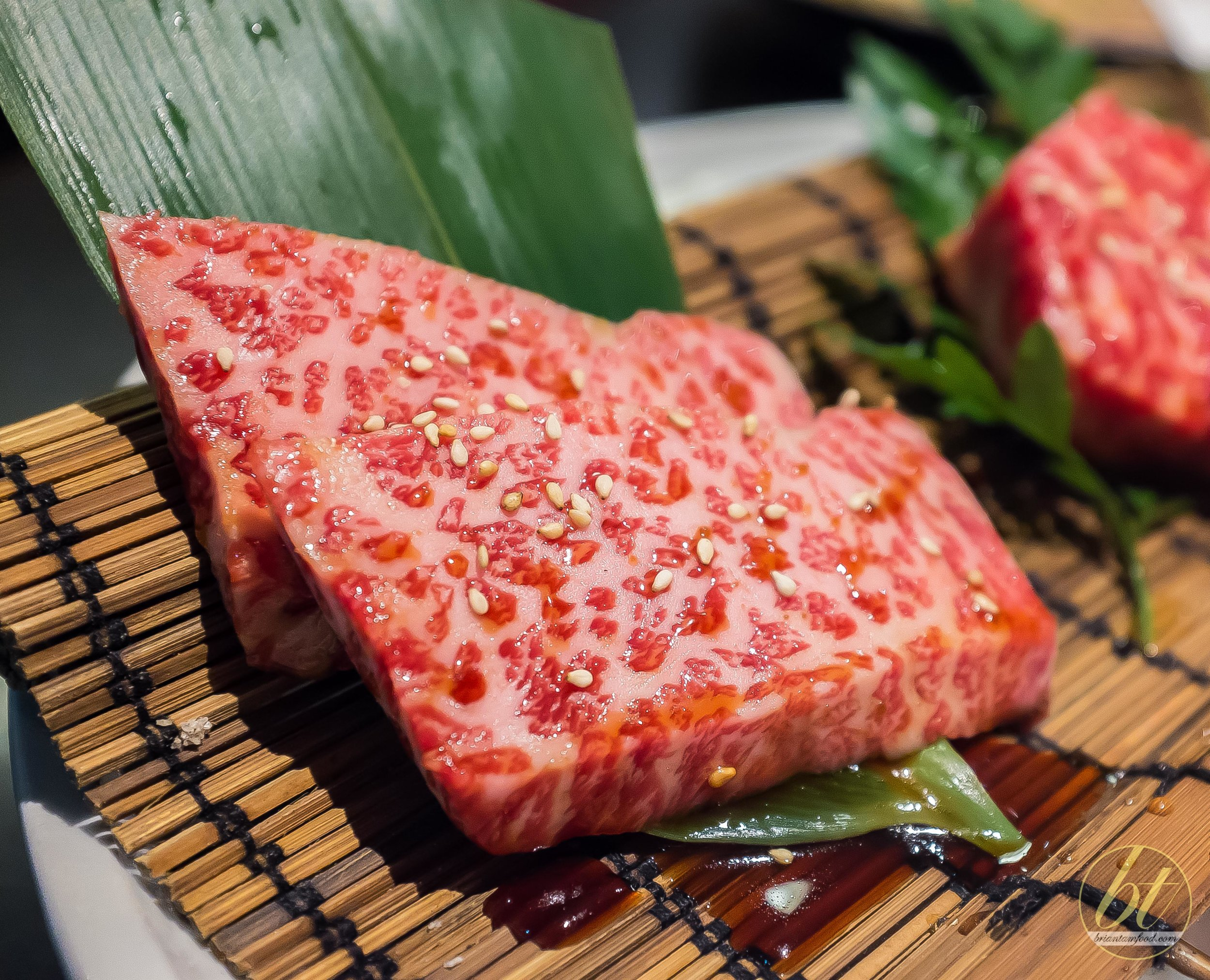 I almost lost my marbles when I saw the marbling on this wagyu rib... :)