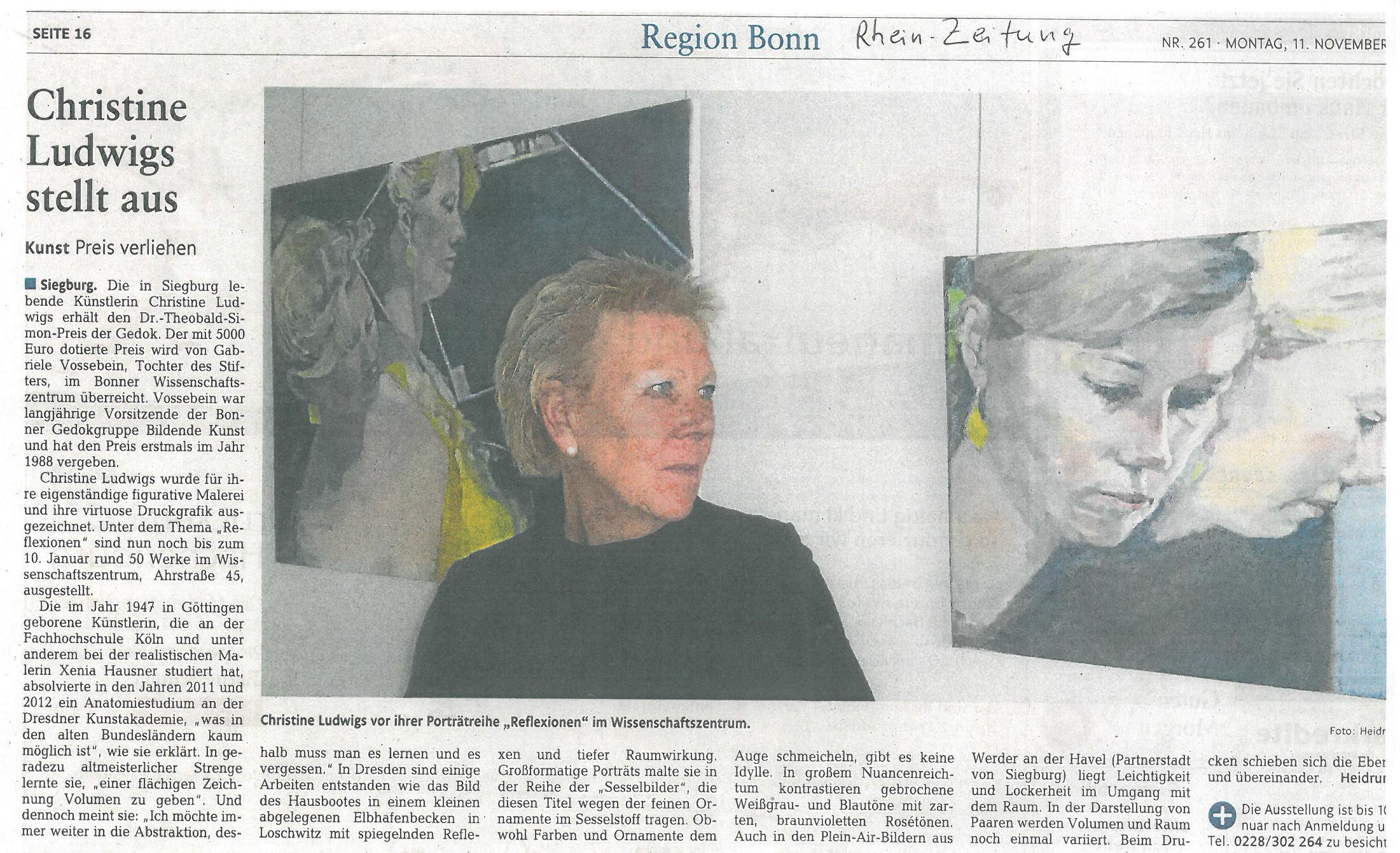 Rhein Zeitung vom 11 November 2013