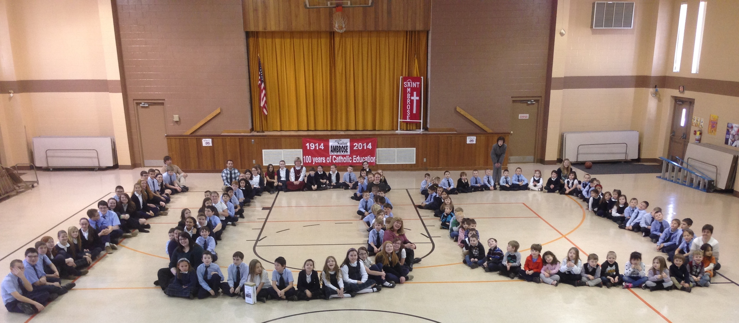 February 10, 2015  Our 100th day in the 100th year of St. Ambrose School.