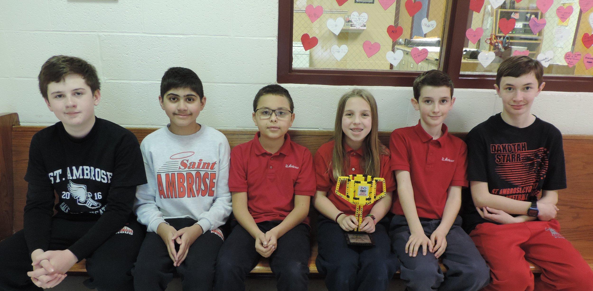 Congratulations to our award winning Lego Robotics Team!