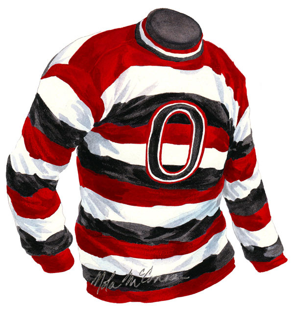 An early Ottawa Senators hand knitted wool sweater.