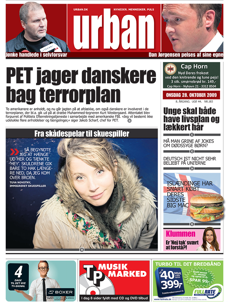 Urban - 28. Oct 2009 - Front page.jpg