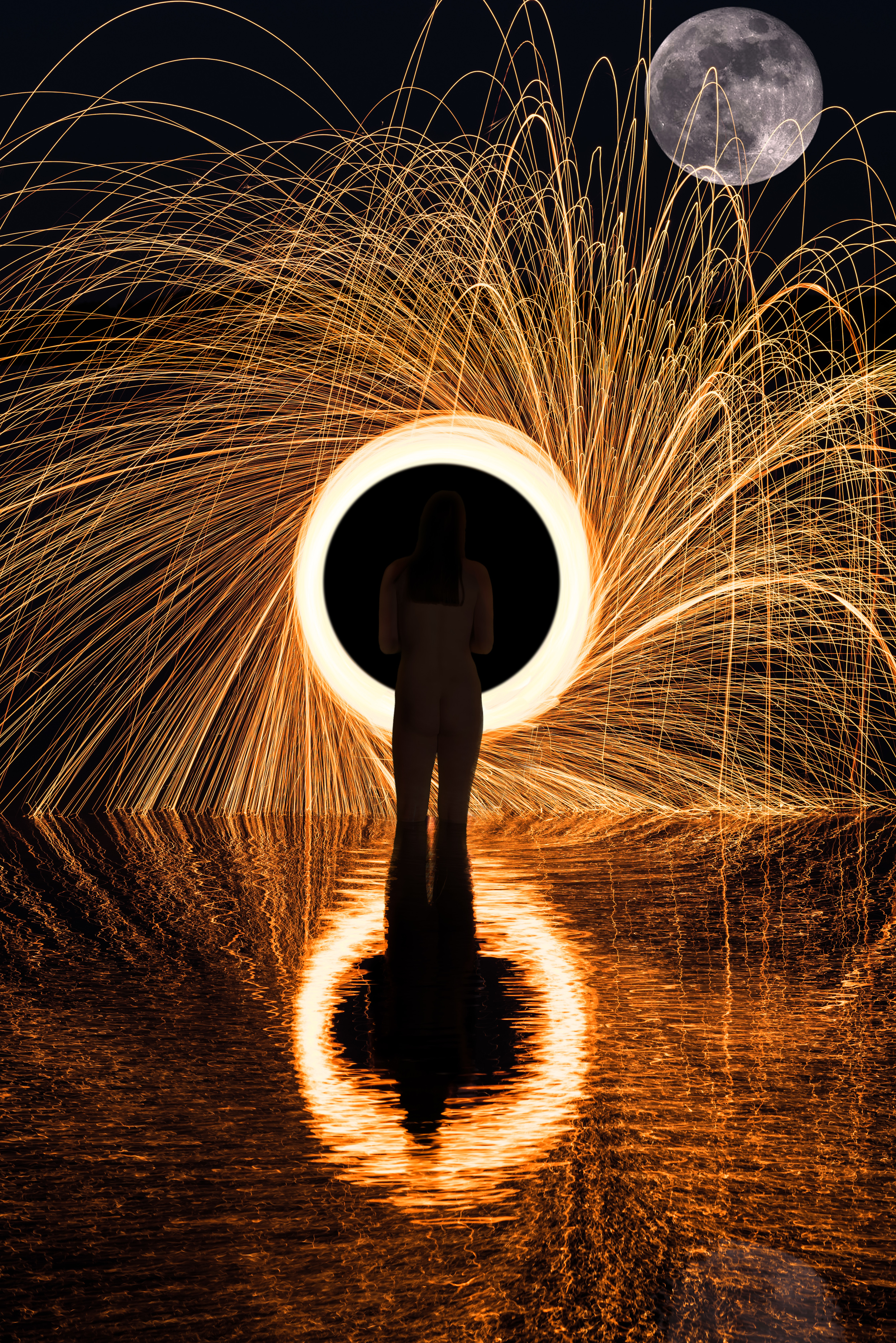 Sparks in the moonlight