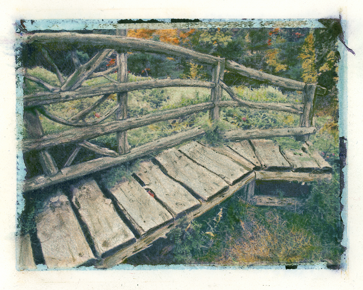 Rustic Bench, Mohonk Mountain